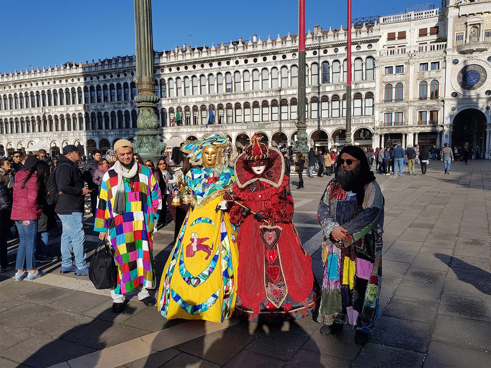 Sidi Shaykh à Venise durant carnaval