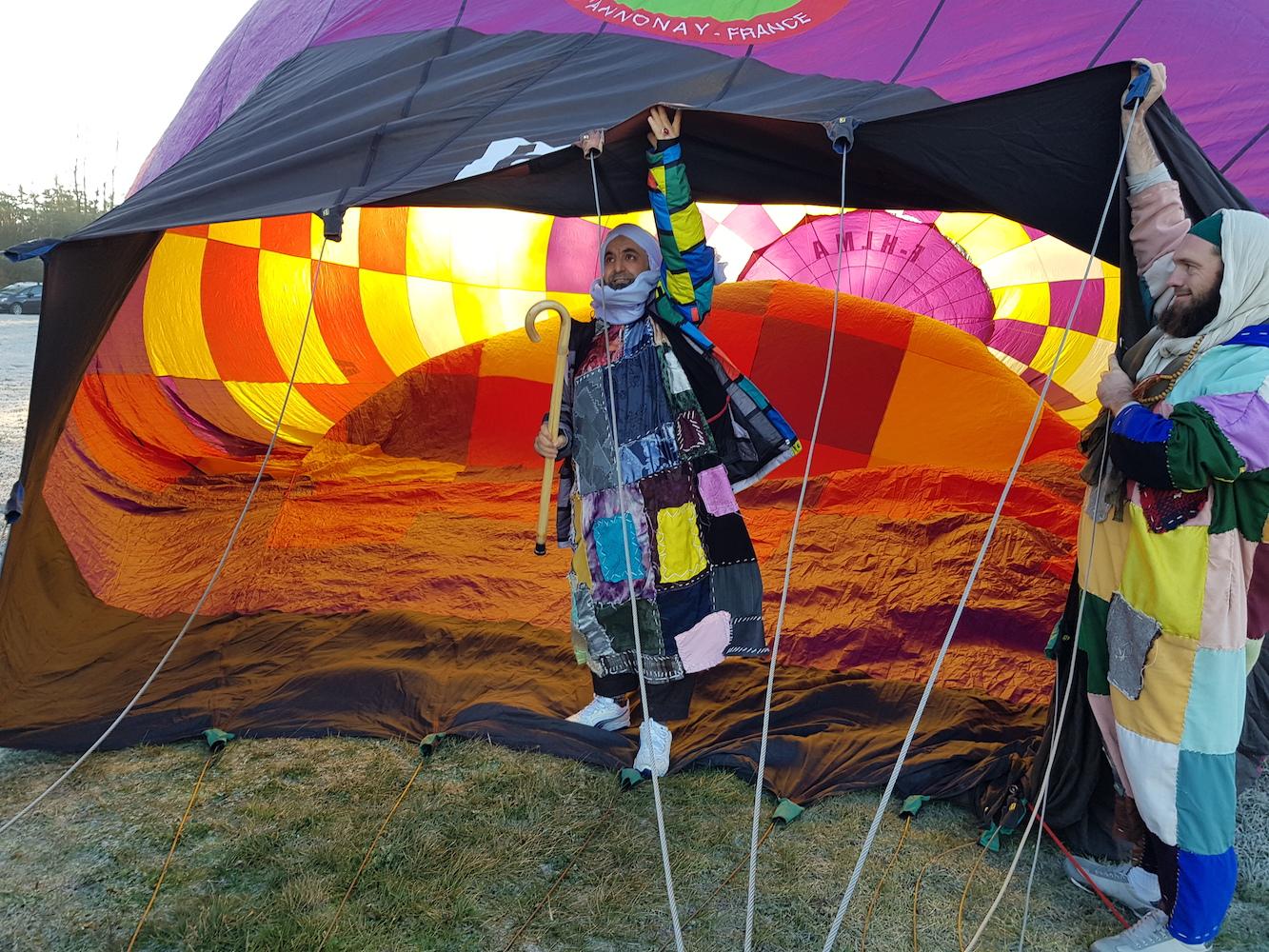 Sidi Shaykh en montgolfière