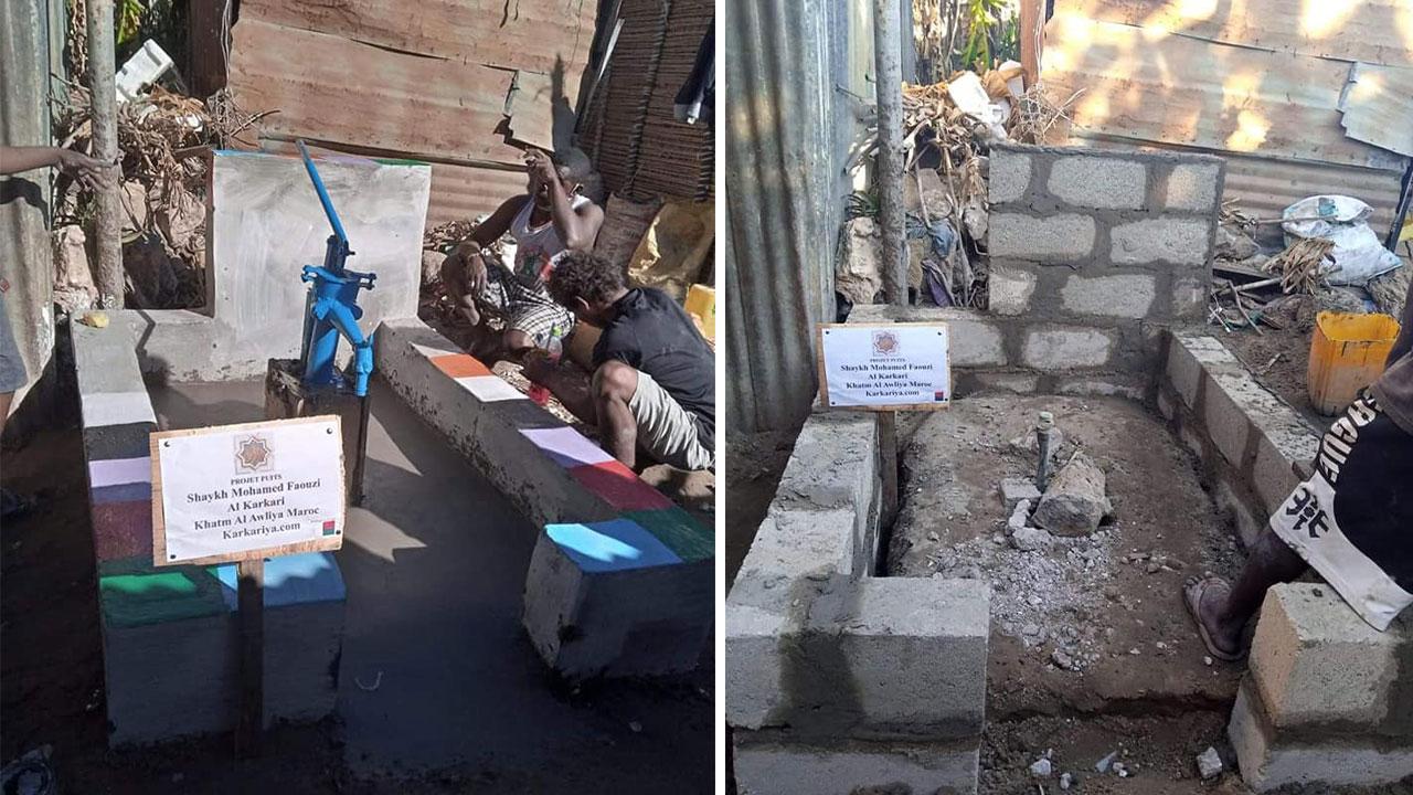 La karkaris malgaches construisent un puits à Tsianaloka