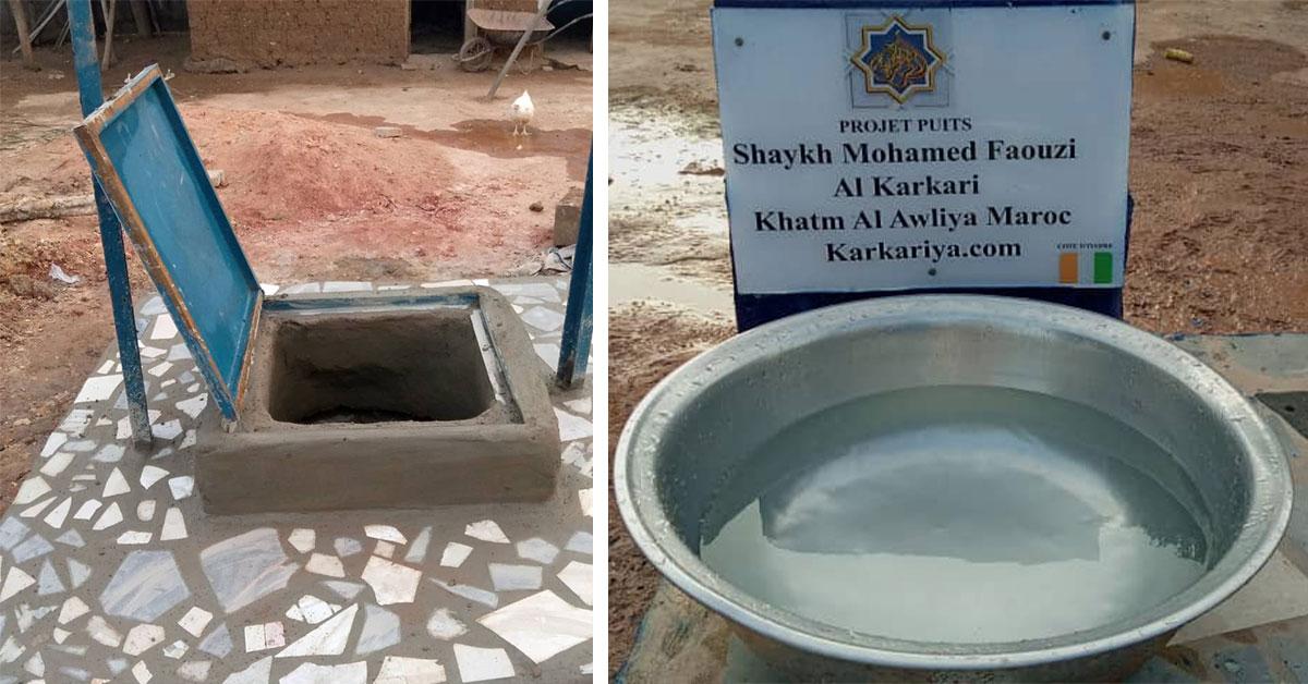 Les karkaris ivoiriens creusent un puits d'eau potable à Tehiri