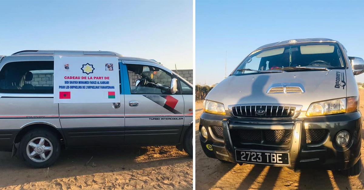 La Karkariya fait don d'une camionnette à l'orphelinat Fanantenana (Madagascar)